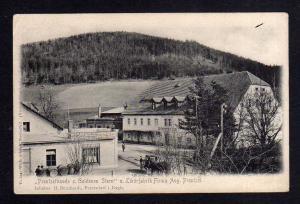 Ansichtskarte Prentzelbaude Gasthof zum Goldenen Stern Likörfabrik Petersdorf Riesen