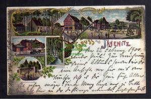 Ansichtskarte Jävenitz Gardelegen Litho 1900 Gasthaus zum deutschen Kaiser Bahnhof