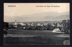 Ansichtskarte Mittelwalde Schlesien 1913 Total Ansicht des Glatzer Schneegebirges