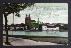 Ansichtskarte Gniezno Gnesen 1906 Totalansicht mit Gawellsee