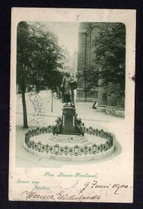 Ansichtskarte Stettin 1900 Loewe Denkmal