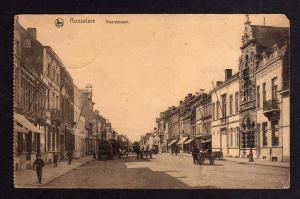 Ansichtskarte Roeselare Roulers 1917 Noordstraat