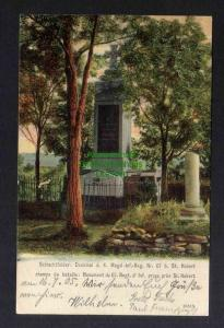 Ansichtskarte Saint-Hubert Moselle Lothringen Denkmal 1905