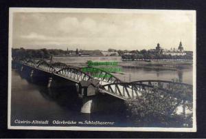 Ansichtskarte Kostrzyn nad Odra Küstrin Cüstrin Altstadt Oderbrücke Fotokarte