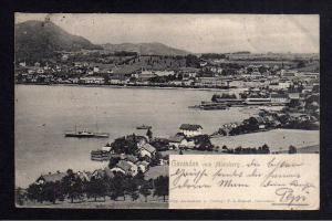 Ansichtskarte Gmunden vom Moosberg Oberösterreich 1903