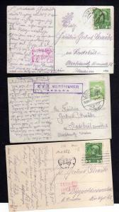 3 Ansichtskarte Wien Zsolna K. u. K. Militärzensur Überprüft 1. Weltkrieg