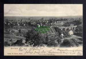 Ansichtskarte Mayen 1903 Panorama mit Brücke Eisenbahnviadukt über die Nette