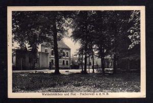 Ansichtskarte Fischerwall an der Nordbahn Waldschlösschen und Post 1931
