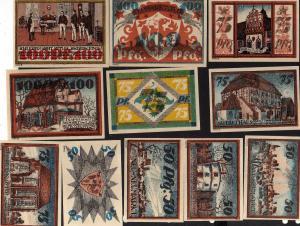 Notgeld Neumarkt Schlesien 11 Scheine Serie I II III IV