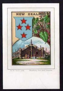 Ansichtskarte Wappenkarte New Zealand Neuseeland 1900 Kunstverlag Paul Kohl Chemnitz