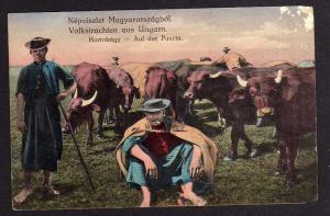 Ansichtskarte Volkstrachten aus Ungarn Hortobagy Puszta 1917