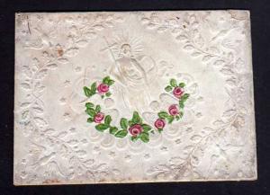 Taufbrief Auch Dir ...  1852 Patenbrief geprägt  mit Spruchzettel