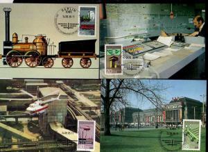 B151 DDR 2968 - 2971 4 Maximumkarten Eisenbahnwesen 1985
