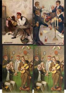 7 Ansichtskarte Studentika Im Karzer Landesvater Burschenwohl 1913 Bierduell Leipzig