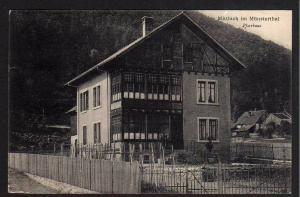 Ansichtskarte Mittlach im Münsterthal Pfarrhaus 1907