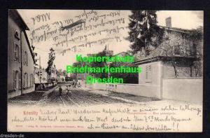 Ansichtskarte Remilly Hauptstrasse 1904 Bahnpost Strassburg Elsass