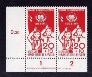 DDR 1958 646 10 Jahre Pionierorganisation  ** DV ungefalten nicht angetrenn