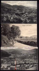 3 Ansichtskarte Metzertal Hochvogesen Sillacker Kopf  Tännle