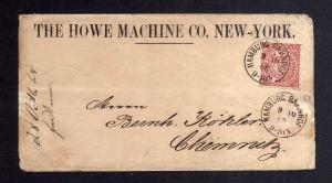 B2702 NDP sehr schöner Vordruckbrief THE HOWE MACHINE CO. New York 1868 Chemnitz