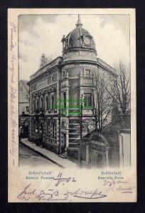 Ansichtskarte Schlettstadt Sélestat Elsass Schlestadt Kaiserliches Postamt 1902