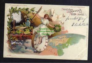 Ansichtskarte Halt gegen Licht Herzlichen Glückwunsch zum neuen Jahre 1900 529