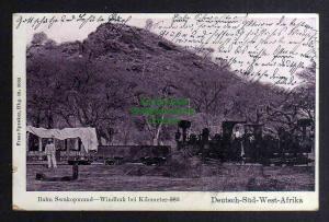 Ansichtskarte DSW Deutsch Südwestafrika Bahn Swakopmund Windhuk Kilometer 383