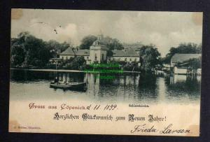 Ansichtskarte Berlin Köpenick Schlosskirche Neujahr 1899
