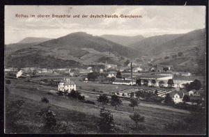 Ansichtskarte Rothau Breuschtal dt. franz. Grenzkamm 1916 Feldpost Elsaß