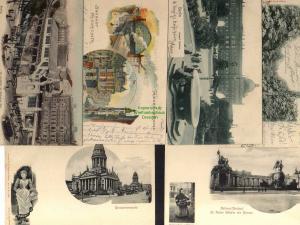 6 Ansichtskarte Berlin Schloss Bundesturnfest 1903 National Denkmal Gendarmenmarkt