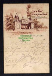 Ansichtskarte Berlin Treptow 1896 Pavillon Sarotti Cacao Zelt