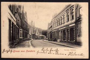 Ansichtskarte Tondern Grosse Strasse 1902 Tønder