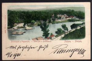 Ansichtskarte Pistyan Pöstyen Fähre Badehäuser Pieštany 1901 Slovakei