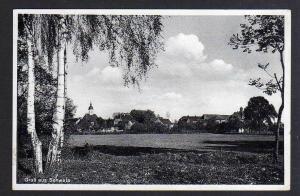 Ansichtskarte Schweta über Oschatz 1938 Dorf Kirche Landpoststempel
