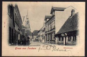Ansichtskarte Tondern Mittelstrasse 1902 Tønder