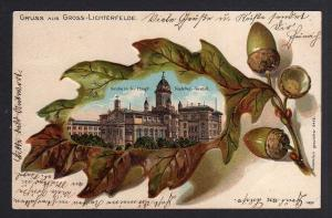 Ansichtskarte Berlin Gross Lichterfelde Kadetten Anstalt um 1900 Eichenblatt Litho