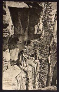 Ansichtskarte Felsenweg Hochvogesen Schlucht 1916