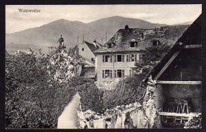 Ansichtskarte Wattweiler 1916 Wattwiller Baracken Lazarett