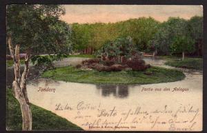 Ansichtskarte Tondern Partie aus den Anlagen 1902