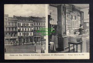 Ansichtskarte Berlin um 1910 Max Köhlers Bier Klause Oranienstr. 60 Moritzplatz