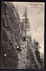 Ansichtskarte Felsenpfad Schlucht Hochvogesen 1915