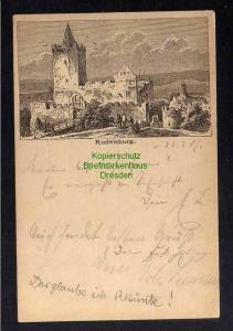 Ansichtskarte Rudelsburg Vorläufer 1887 Privatganzsache Bad Kösen