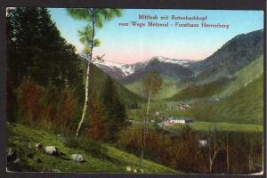 Ansichtskarte Mittlach mit Rotenbachkopf 1915 Feldpost