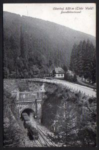 Ansichtskarte Oberhof Brandleitentunnel Zug Lok
