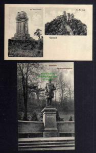 2 Ansichtskarte Eisenach um 1920 Bismarck Denkmal Bismarcksäule