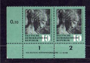 DDR 1958 667 Kunstschätze ** DV ungefalten nicht angetrennt Zähnungsvariant