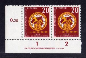 DDR 1958 658 Sommerspartakiade Leipzig ** DV ungefalten nicht angetrennt