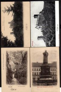 4 Ansichtskarte Eisenach Wartburg Drachenschlucht 1903 Lutherdenkmal