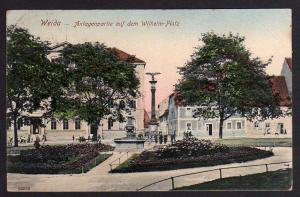 Ansichtskarte Weida 1908 Anlagenpartie Wilhelm Platz