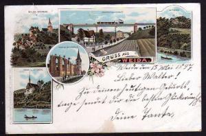Ansichtskarte Weida 1897 Wiedenkirche Ruine Litho Oschütztal