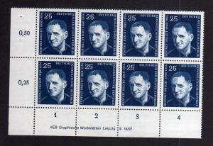 DDR 594 Bertolt Brecht 1957 postfrisch Druckvermerk DV